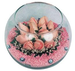 Van internetten çiçek satışı  cam fanus içerisinde 10 adet gül