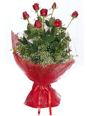 Van çiçek servisi , çiçekçi adresleri  7 adet gülden buket görsel sik sadelik