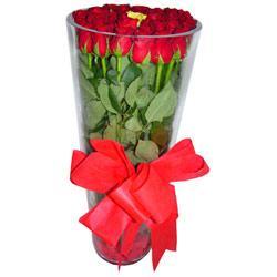 Van çiçek online çiçek siparişi  12 adet kirmizi gül cam yada mika vazo tanzim