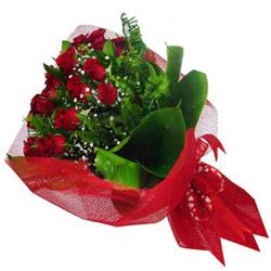 Van kaliteli taze ve ucuz çiçekler  12 adet kirmizi essiz gül buketi - SEVENE ÖZEL