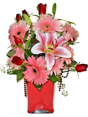 Van cicek , cicekci  karisik cam yada mika vazoda mevsim çiçekleri mevsim demeti