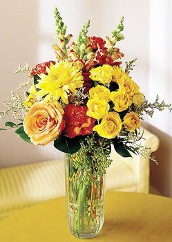 Van 14 şubat sevgililer günü çiçek  mika yada cam içerisinde karisik mevsim çiçekleri