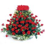 Van kaliteli taze ve ucuz çiçekler  41 adet kirmizi gülden sepet tanzimi