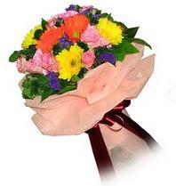 Van çiçekçi mağazası  Karisik mevsim çiçeklerinden demet