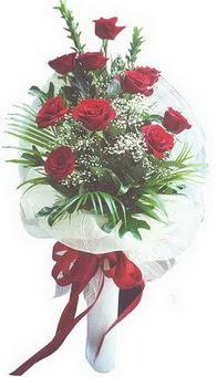 Van hediye çiçek yolla  10 adet kirmizi gülden buket tanzimi özel anlara