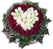 Van çiçek mağazası , çiçekçi adresleri  27 adet kirmizi ve beyaz gül sepet içinde