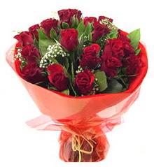 Van anneler günü çiçek yolla  11 adet kimizi gülün ihtisami buket modeli