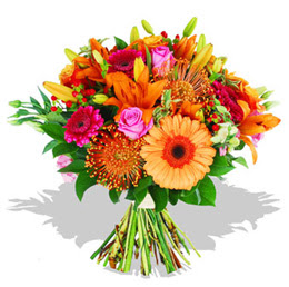 Van çiçekçi telefonları  Karisik kir çiçeklerinden görsel demet