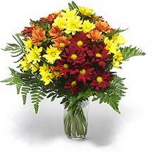 Van çiçek siparişi sitesi  Karisik çiçeklerden mevsim vazosu