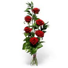 Van uluslararası çiçek gönderme  mika yada cam vazoda 6 adet essiz gül