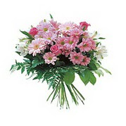 karisik kir çiçek demeti  Van çiçek satışı