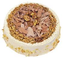Karamelli 4 ile 6 kisilik yas pasta  Van çiçek yolla