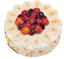 Meyvali 4 ile 6 kisilik yas pasta leziz  Van ucuz çiçek gönder