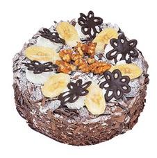 Muzlu çikolatali yas pasta 4 ile 6 kisilik   Van uluslararası çiçek gönderme