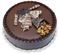 Çikolatali yas pasta 4 ile 6 kisilik  leziz  Van çiçek mağazası , çiçekçi adresleri