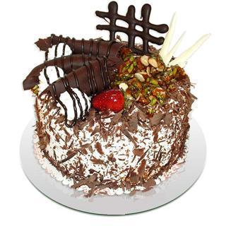 4 ile 6 kisilik çikolatali yas pasta  Van kaliteli taze ve ucuz çiçekler