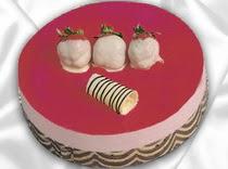 pasta siparisi 4 ile 6 kisilik yas pasta çilekli yaspasta  Van çiçek servisi , çiçekçi adresleri