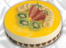 pasta gönderme 4 ile 6 kisilik yas pasta muzlu yaspasta  Van çiçek mağazası , çiçekçi adresleri