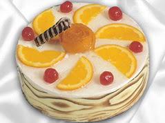 lezzetli pasta satisi 4 ile 6 kisilik yas pasta portakalli pasta  Van çiçekçi mağazası