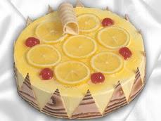 taze pastaci 4 ile 6 kisilik yas pasta limonlu yaspasta  Van online çiçek gönderme sipariş