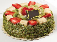 pasta gönder  4 ile 6 kisilik karisik meyvali yas pasta  Van internetten çiçek siparişi