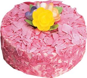 pasta siparisi 4 ile 6 kisilik framboazli yas pasta  Van çiçek yolla