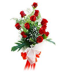 11 adet kirmizi güllerden görsel sölen buket  Van çiçek siparişi vermek