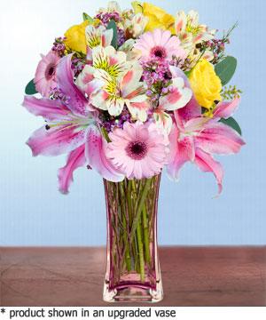 Anneme hediye karisik cam mevsim demeti  Van internetten çiçek siparişi