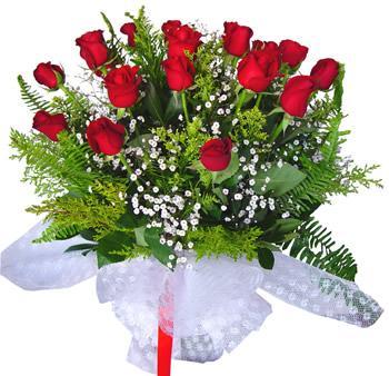 11 adet gösterisli kirmizi gül buketi  Van internetten çiçek satışı