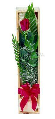 1 adet kutuda kirmizi gül  Van çiçek gönderme sitemiz güvenlidir