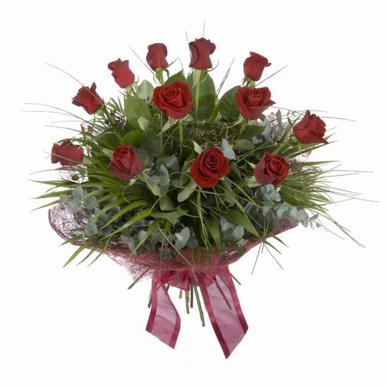 Etkileyici buket 11 adet kirmizi gül buketi  Van internetten çiçek satışı