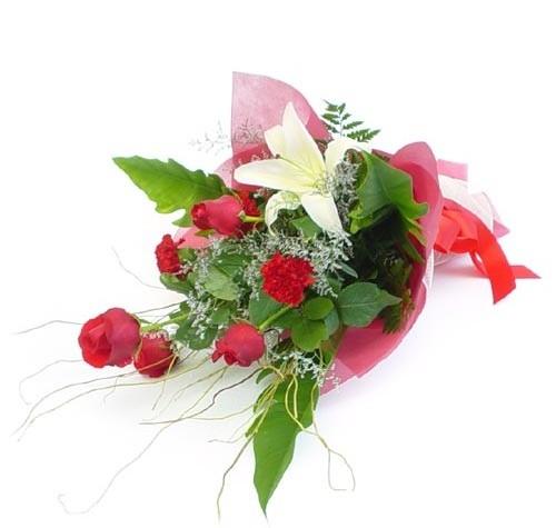 Mevsim çiçeklerinden karisik buket  Van cicek , cicekci