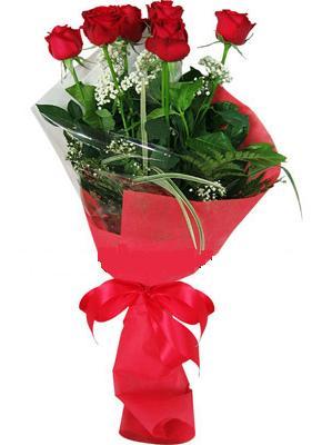 7 adet kirmizi gül buketi  Van çiçek yolla , çiçek gönder , çiçekçi