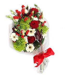 Karisik mevsim buketi çiçek tanzimi  Van internetten çiçek siparişi