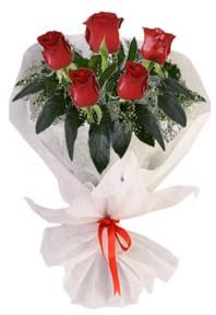 5 adet kirmizi gül buketi  Van çiçekçiler