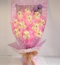 11 adet pelus ayicik buketi  Van çiçek yolla