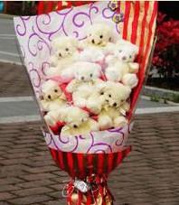 11 adet pelus ayicik buketi  Van ucuz çiçek gönder