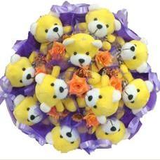 11 adet pelus ayicik buketi  Van çiçek mağazası , çiçekçi adresleri