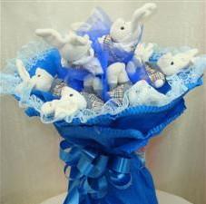 7 adet pelus ayicik buketi  Van çiçek , çiçekçi , çiçekçilik