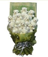 11 adet pelus ayicik buketi  Van online çiçek gönderme sipariş