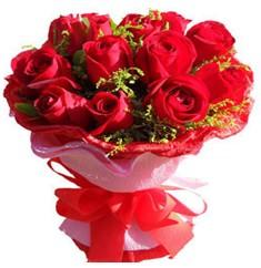9 adet kirmizi güllerden kipkirmizi buket  Van çiçekçiler