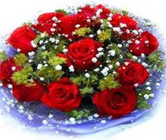 9 adet kirmizi güllerden buket  Van çiçekçi telefonları