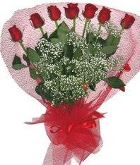 7 adet kipkirmizi gülden görsel buket  Van çiçek mağazası , çiçekçi adresleri