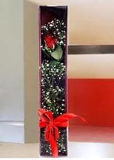 kutu içinde tek kirmizi gül  Van çiçek online çiçek siparişi