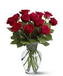 Van çiçek gönderme sitemiz güvenlidir  cam yada mika vazoda 10 kirmizi gül