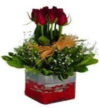Van çiçek gönderme  7 adet mika yada cam vazoda gül tanzimi