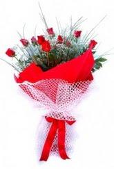 Van İnternetten çiçek siparişi  9 adet kirmizi gül buketi demeti
