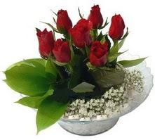 Van internetten çiçek satışı  cam yada mika içerisinde 5 adet kirmizi gül