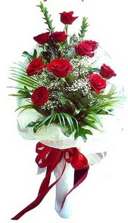 Van ucuz çiçek gönder  10 adet kirmizi gül buketi demeti
