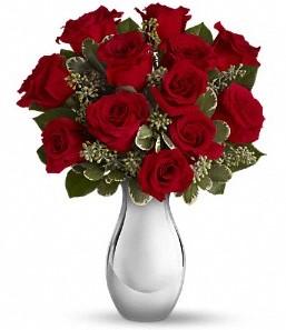 Van çiçek siparişi vermek   vazo içerisinde 11 adet kırmızı gül tanzimi